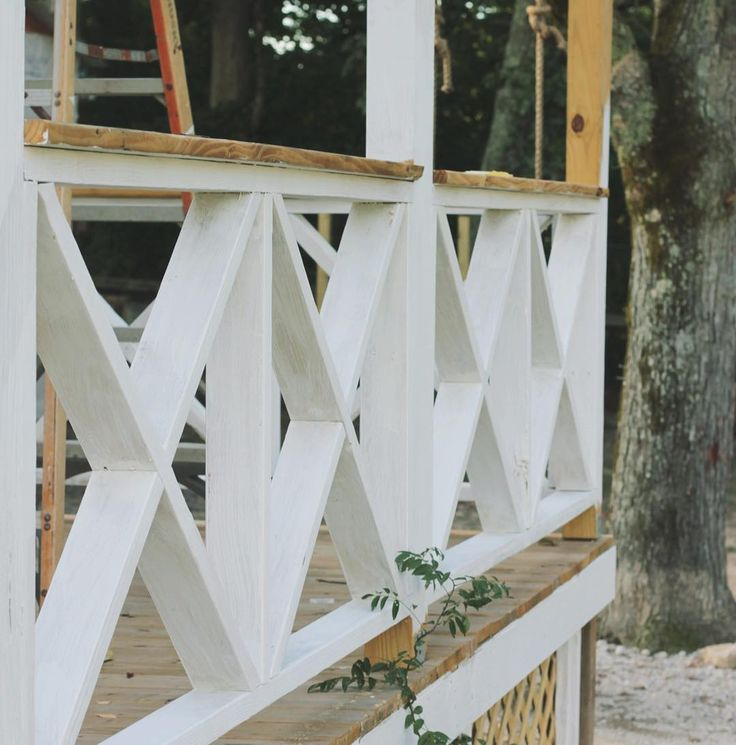 """371 Likes, 37 Comments - Trinity Holmes (@circa_34) on Instagram: """"Painting ✖️ porch rails has got me like I can see the finish line...then it's on to staining.…"""""""