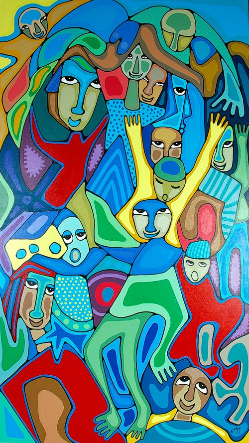 Lattimer Gallery - Daphne Odjig - The Joy of Play