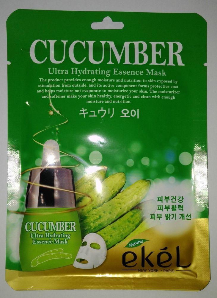 Ekel Cucumber Ultra Hydrating Essence Mask K-Beauty 1pcs #EKEL