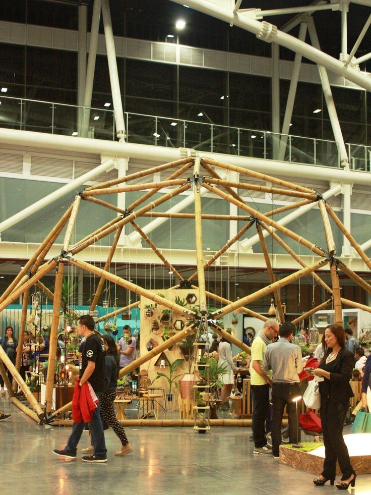 Domo geodésico o poliedro en bambú guadua por Palakas alquiler para eventos
