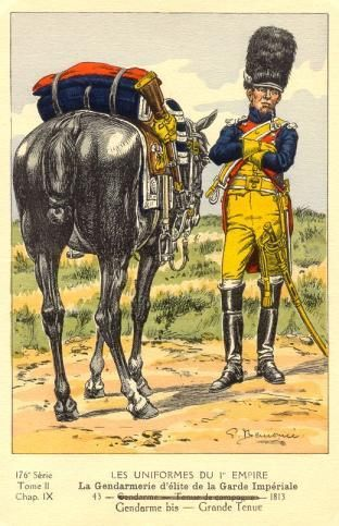 French; Imperial Guard, Gendarmes d'Elite, Gendarme, Grande Tenue, 1813