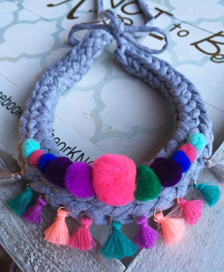 A personal favourite from my Etsy shop https://www.etsy.com/ie/listing/495630419/chunky-statement-necklace-zpagetti-yarn