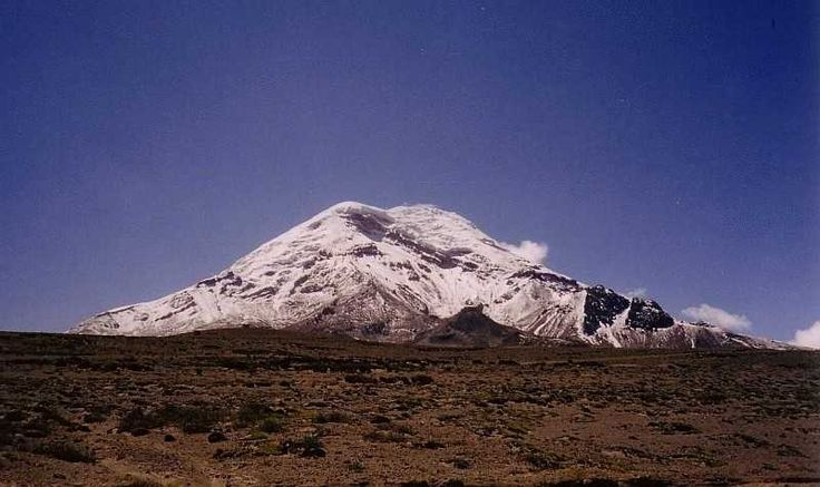 Most people think Mount Everest is the highest point on Earth, but this is not so. Owing to Earth's peculiar shape, it's actually Mount Chimborazo