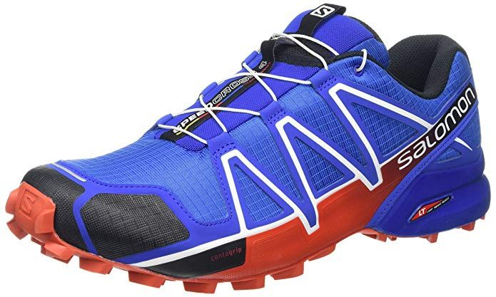 Salomon Men's Speedcross 4 Trail Running Shoe,Blue Yonder