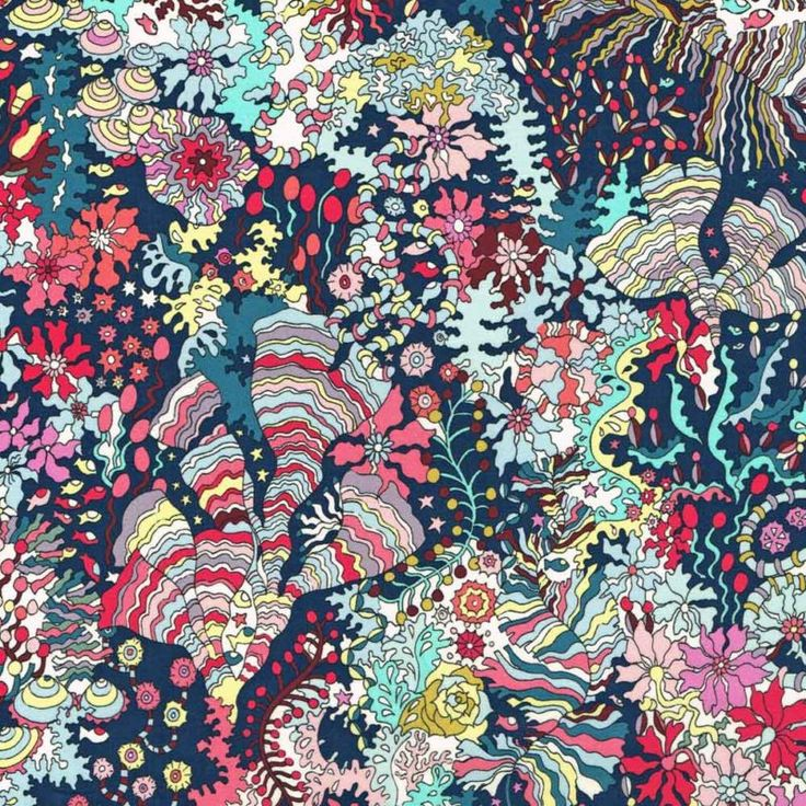 Liberty Fabric Tana Lawn Ocean Forest A