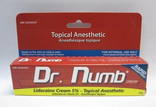 Dr. Numb Cream - Topical Anesthetic by Dr.numb. $32.45. Dr Numb is the strongest skin numbing cream in the market today. Through the years, it has proven effective in minimizing the pain that comes with surgical procedures. It is also a favorite companion of laser treatments, tattooing, body waxing.  Dr Numb numbing cream is very effective in numbing the skin for preparation in any type of procedure. Dr. Numb is proven to numb the skin for more than three hours...