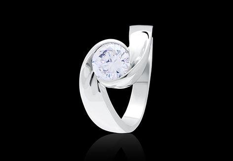 Bold Swirl Ring