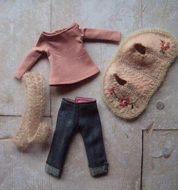 Bohemian Girl Set for Blythe-Pink by mosimosistudio on Etsy