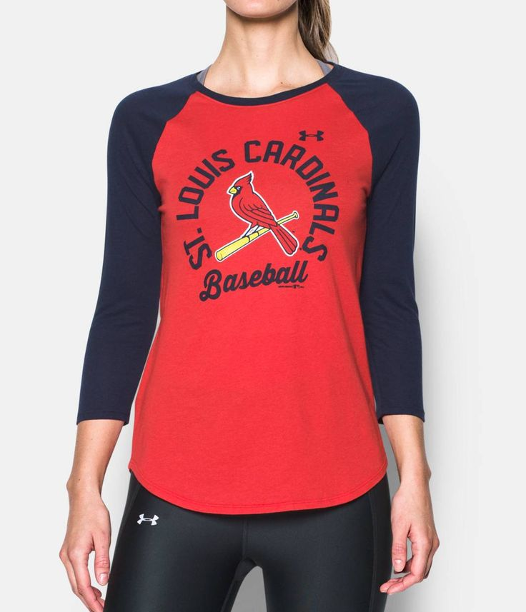 Women's St. Louis Cardinals 3/4 Sleeve T-Shirt, Red, zoomed image