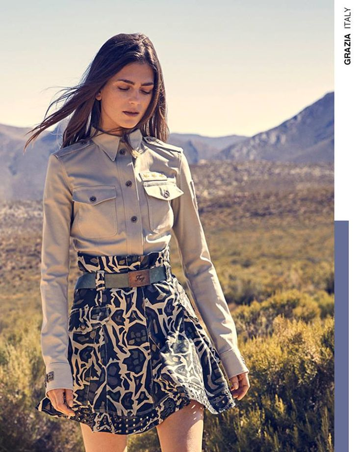 Making the most of safari-chic style in a Fay total look, as seen in Grazia.