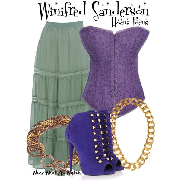 Inspired by Bette Midler as Winifred Sanderson in 1993's Hocus Pocus.