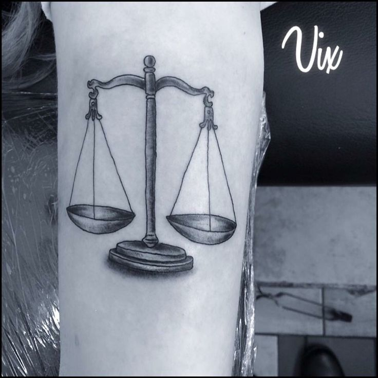 Libra scales tattoo