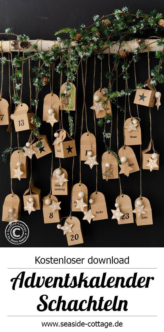 Free Templates To Print Out For Advent Calendars To Fill With Video Free In 2020 Adventkalender Adventskalender Selber Basteln Adventskalender Selbst Gestalten