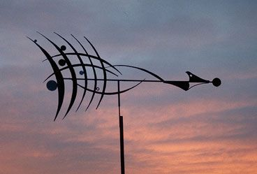 Windvane inspired by the paintings of Wassily Kandinsky 2.8 metres wide.
