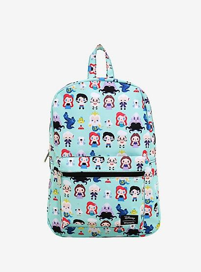94046e17740 Loungefly Disney The Little Mermaid Chibi Character Print BackpackLoungefly Disney  The Little Mermaid Chibi Character Print Backpack