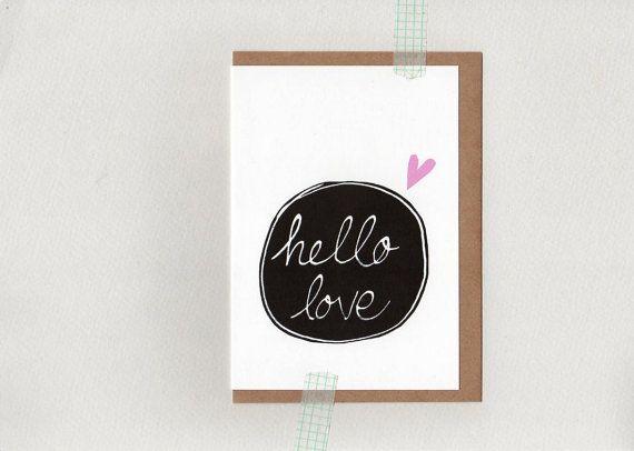 Hello Love . card . oz au australia wandarrah by ThePaisleyFive