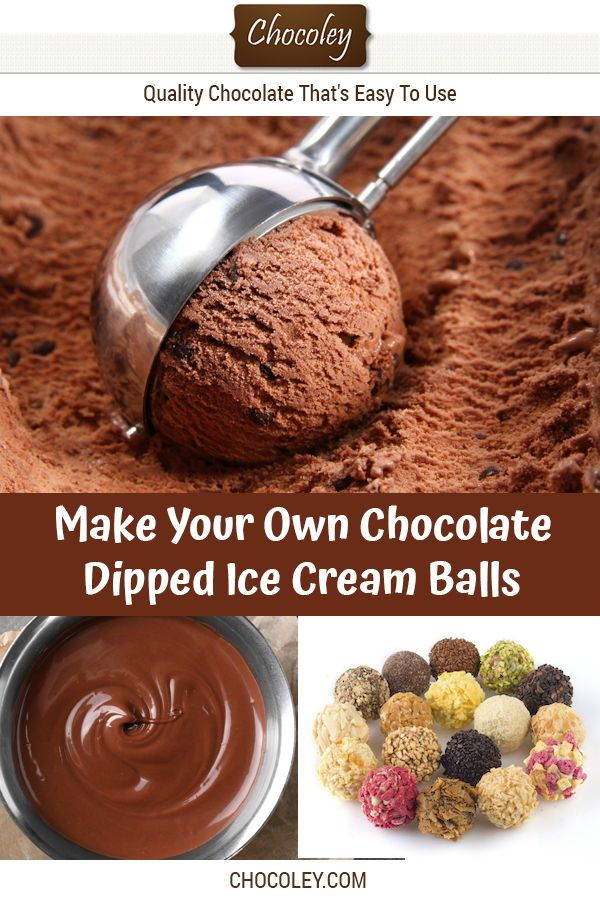 Chocolate Dipped Ice Cream Balls Recipe With Images Gluten