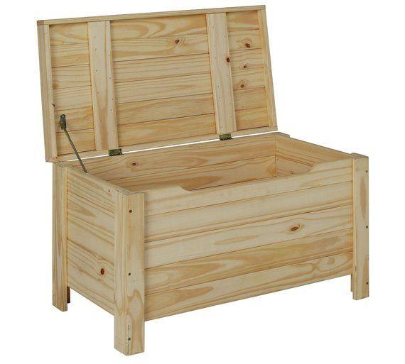 Buy HOME Wooden Storage Box - Unfinished Pine at Argos.co.uk, visit Argos.co.uk to shop online for Storage baskets and boxes, Storage, Home and garden
