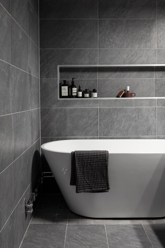 25 best ideas about grey white bathrooms on pinterest for Bathroom ideas grey tiles