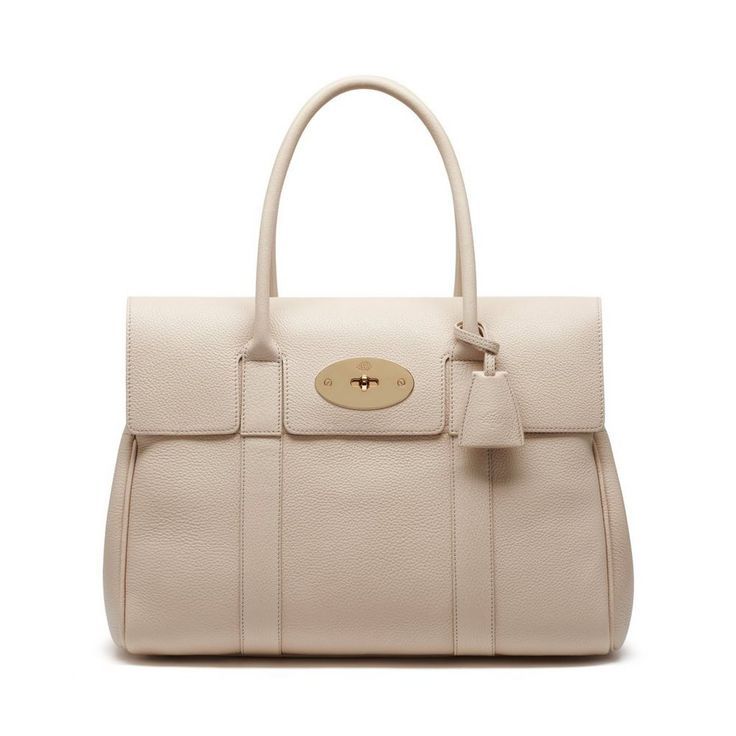 Mulberry Style Signatures - Bayswater in Buttercream Small Classic Grain
