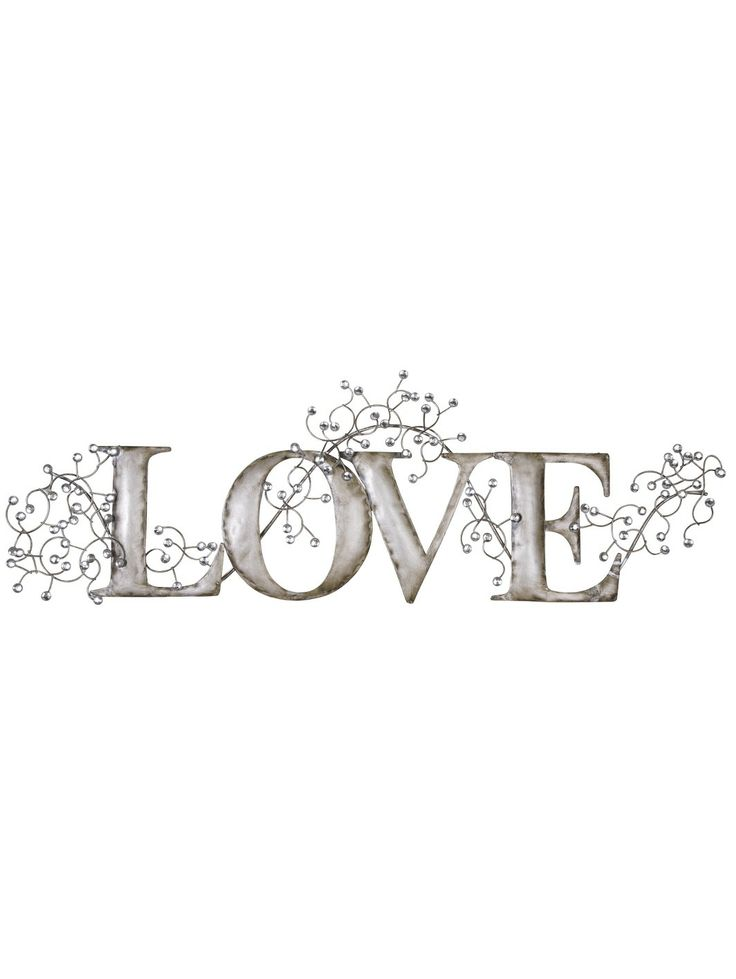 Home Metal Wall Art Adorable Silver Love Metal Wall Art  Home Sweet Home  Pinterest  Metal Design Ideas
