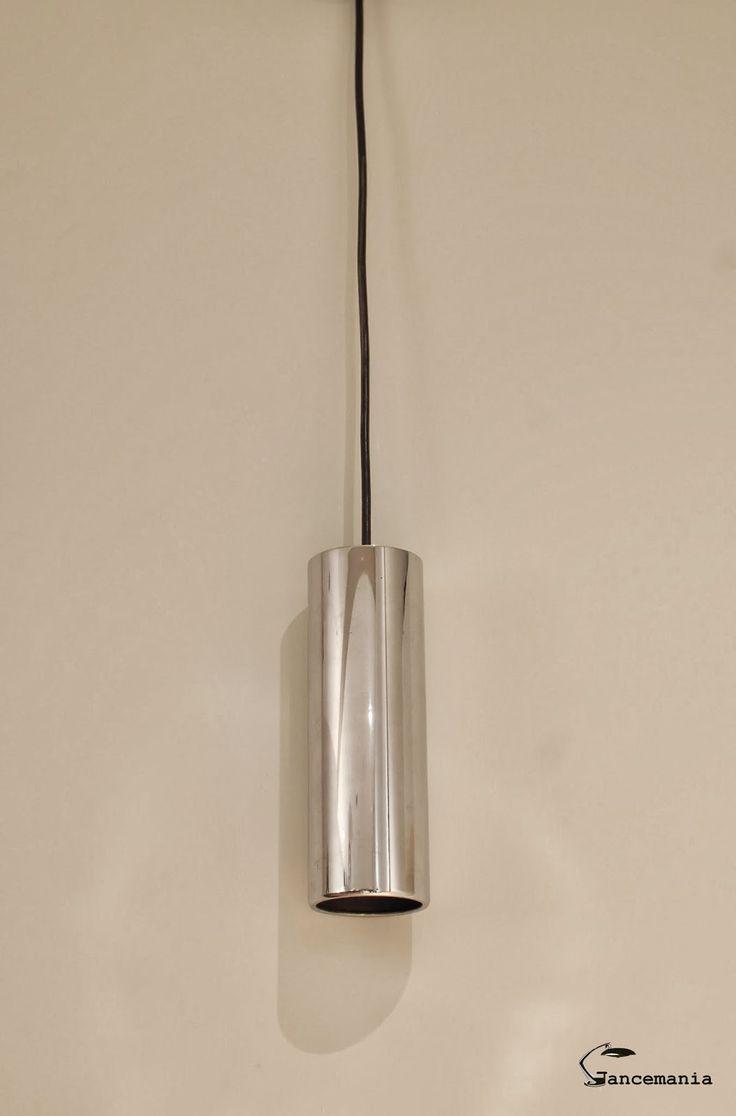 Pareja de lámparas cromadas de los años 70 para colgar, origen italia.