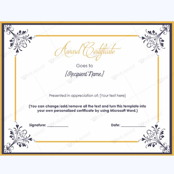 99 best Award Certificate Templates images on Pinterest