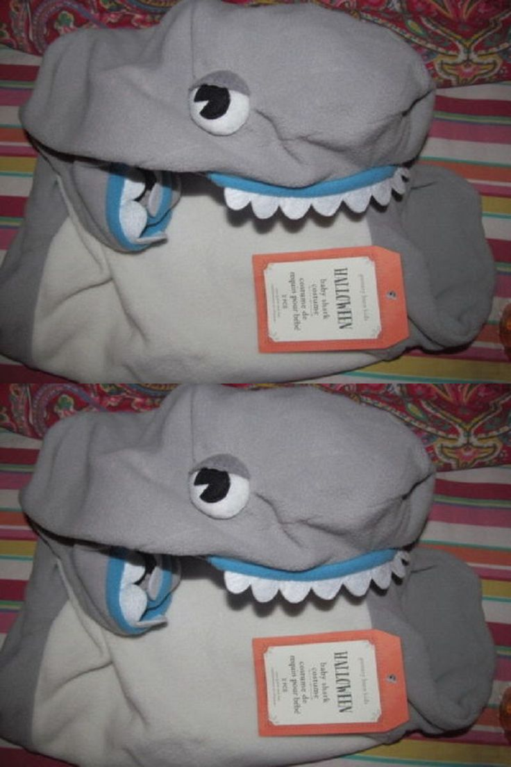 Kids Costumes: Pottery Barn Kids Baby Shark Costume ,0-6 Months, New ,Adorable BUY IT NOW ONLY: $75.89