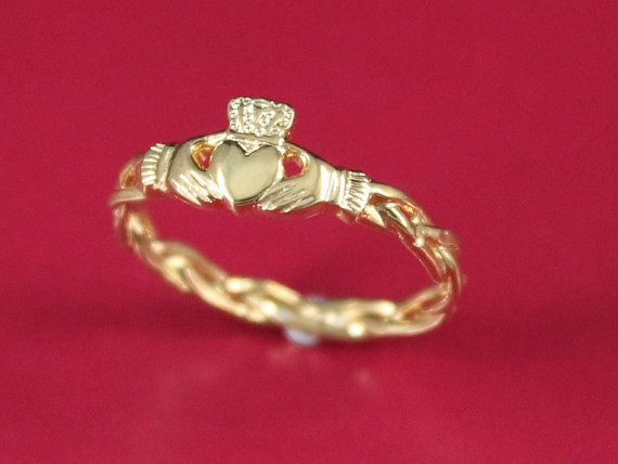 Claddagh ring ladies 10k solid gold claddagh by IrishJewelryDesign