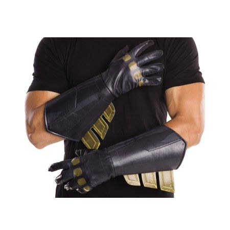 Batman Vs Superman: Dawn of Justice Men's Adult Batman Gauntlets Halloween Costume Accessory, Black