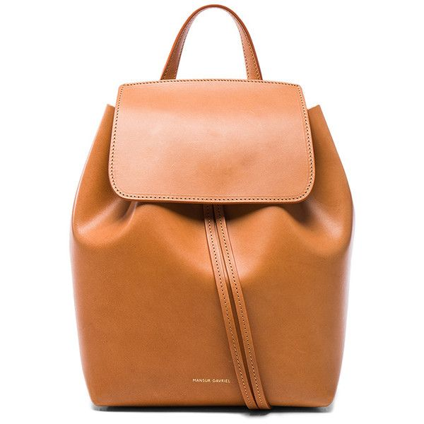 Mansur Gavriel Mini Backpack ($625) ❤ liked on Polyvore featuring bags, backpacks, handbags, day pack backpack, red backpack, mansur gavriel, mansur gavriel backpack and red drawstring backpack