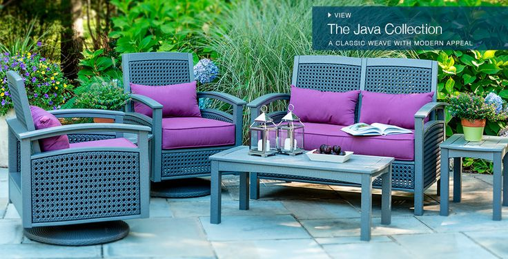 Image result for purple outdoor furniture