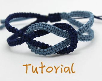 PDF Tutorial Square Knot Macrame Bracelet by purplewyvernjewels