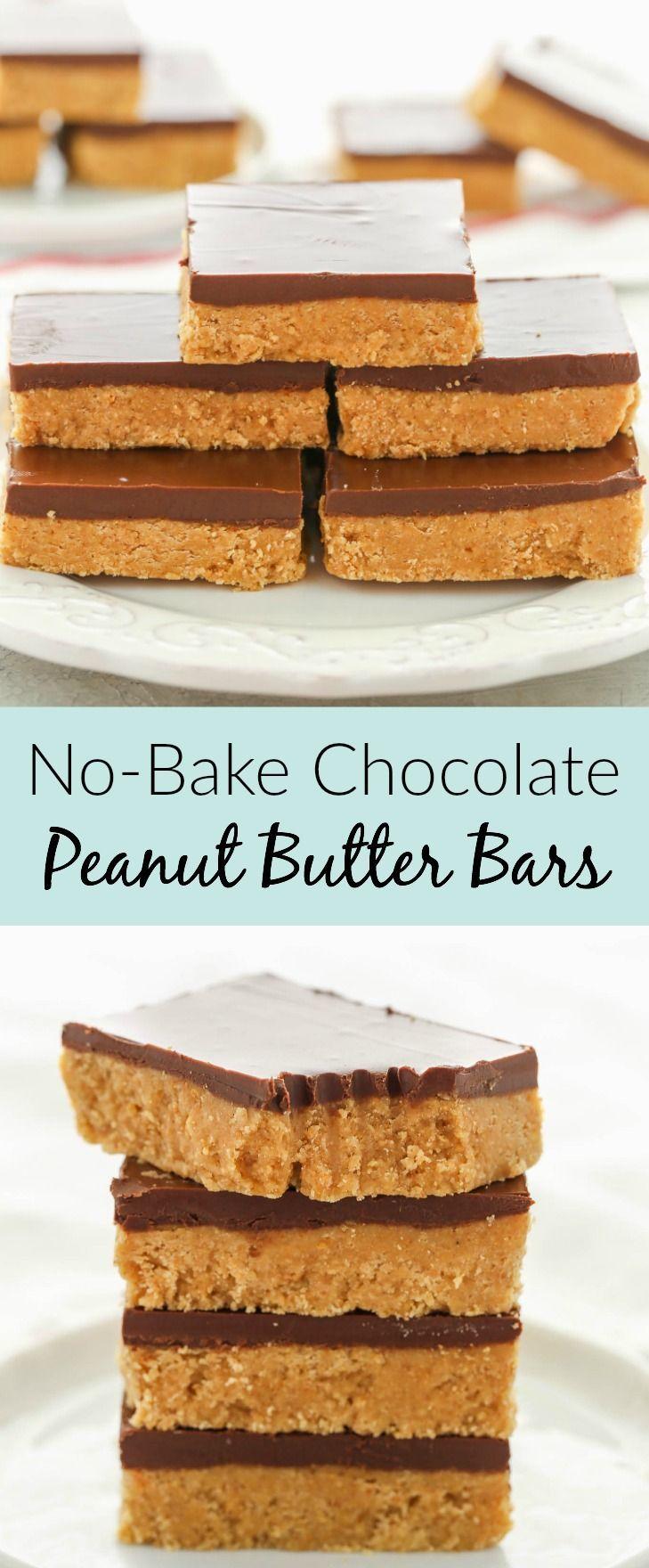 Diese No-Bake-Schokoladen-Erdnussbutter-Riegel erf…