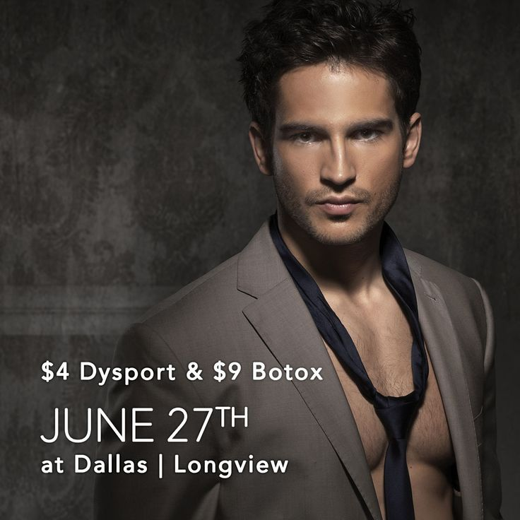Stop by It's a Secret Med Spa in Dallas and Longview for $4/unit Dysport and $9/unit Botox. Great deal you don't want to miss! #botox #dysport #injectable #brotox #fathersgift #medspa