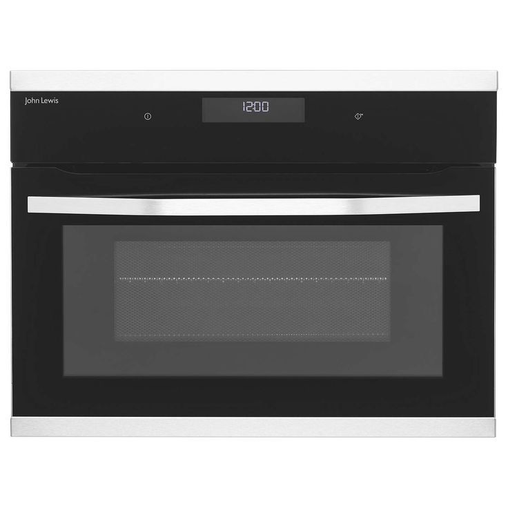 BuyJohn Lewis JLCICO431 Built-in Combination Microwave Oven, Black/Stainless Steel Online at johnlewis.com