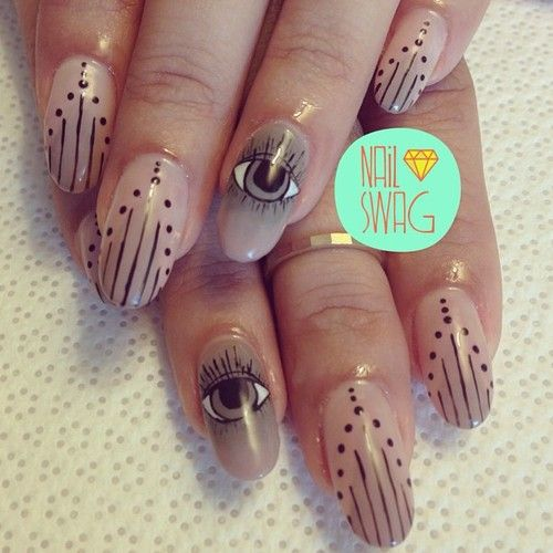 nail-swag: THE EVIL EYE NAIL for Jessica! Inspired by another... – Hail Nails