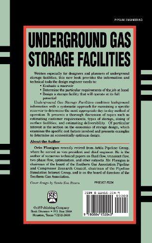 Underground Gas Storage Facilities: Design and Implementation