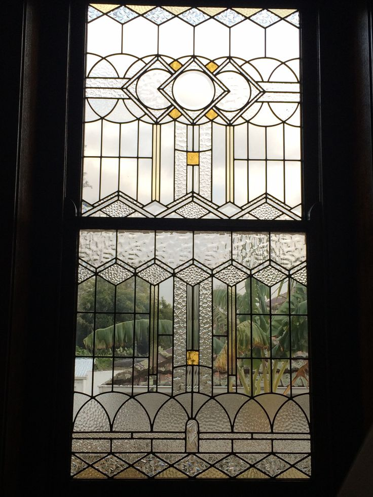 New 1930's style leadlight (stained glass) made from all recycled original glass.