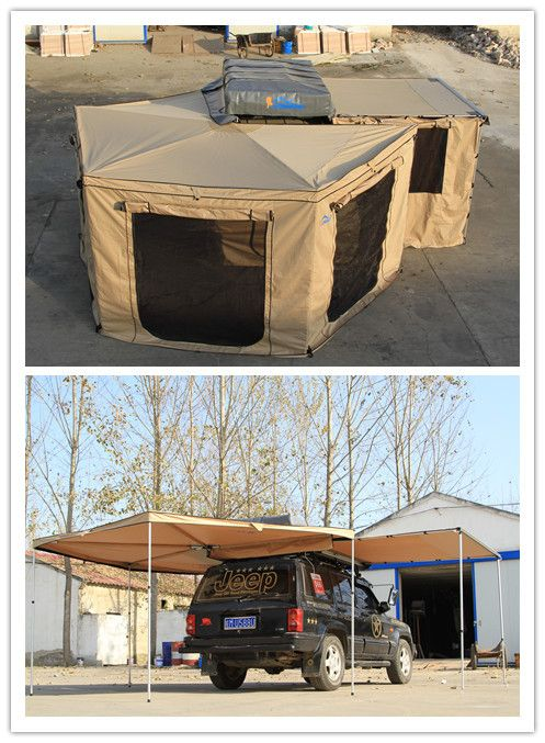 how to set up a travel trailer awning