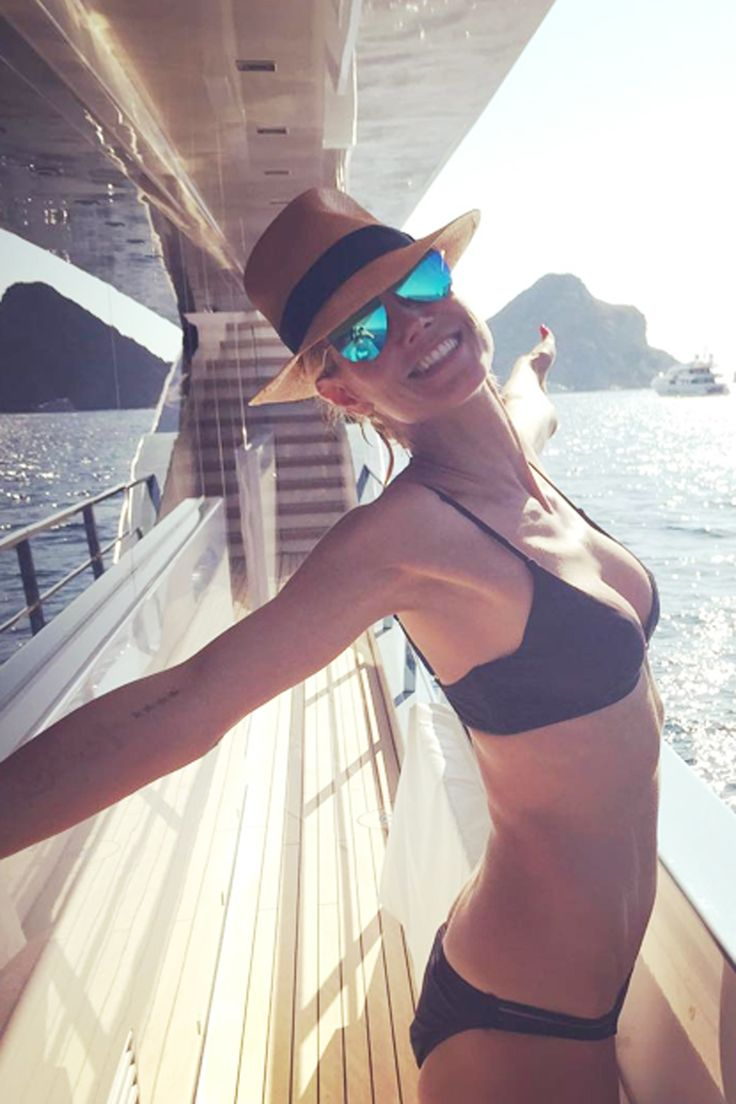 Heidi Klum's bikini body is too fit, fit, fit for words...