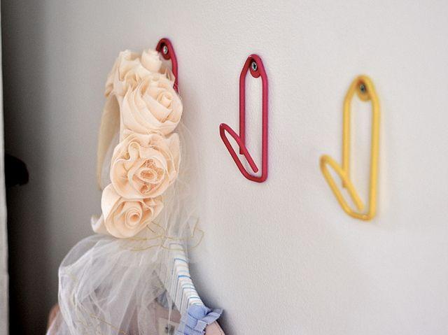 R's room//coat hangers by Paul+Paula, via Flickr