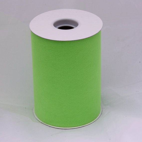 Apple green tulle roll  6 inches  100 yard  green rolls  $5.35  by BnBLLC