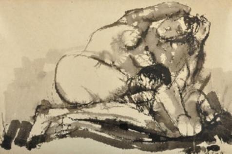 J.C. Castagnino | Maternidad | Tinta sobre papel