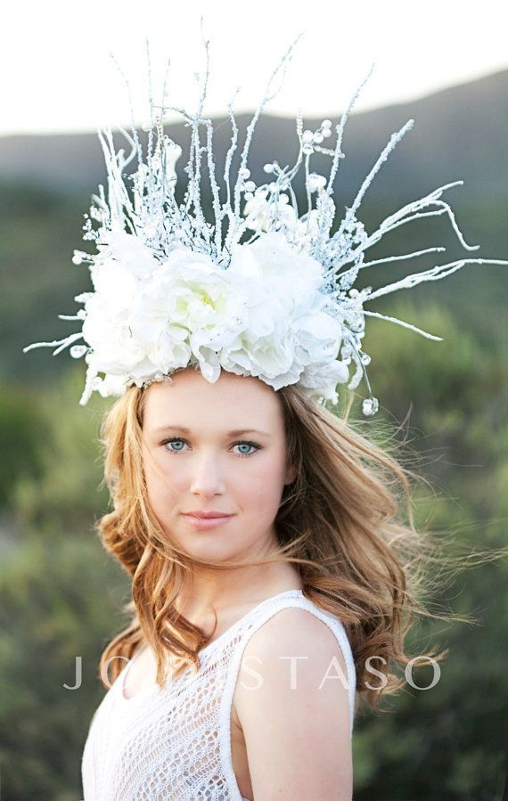 White queen crown – good witch – snow queen – pageant – runway – photoshoot – costume – #Costume #Crown #Good #Pageant #photoshoot #QUEEN #Runway #Snow #White #Witch
