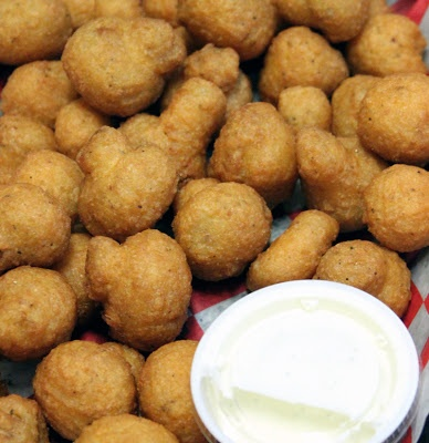 Batter Fried Mushrooms A constant craving. So easy to mess up! Get with it pizza places. I have been disappointed too often. Little Joe's in Ransomville still holds the best.
