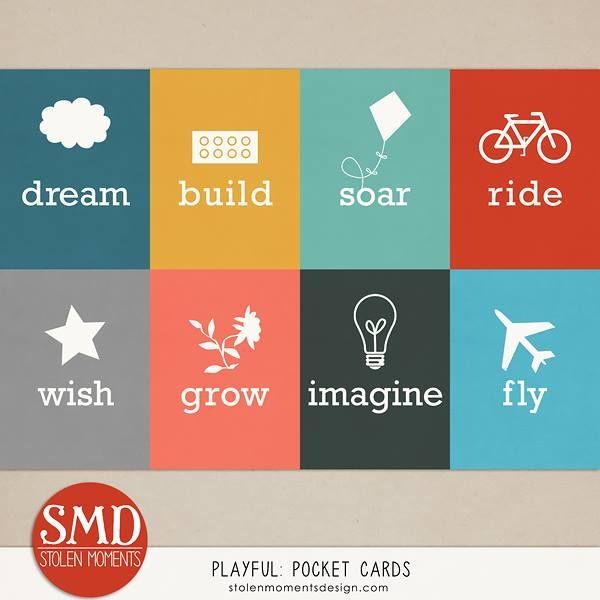 FREE Playful : Pocket Cards by Stolen Moments Design