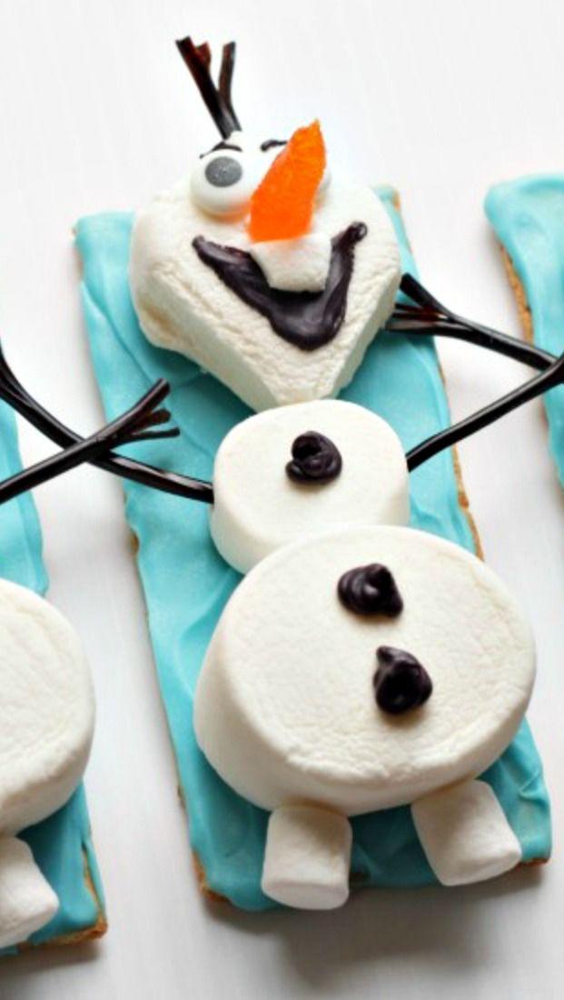Olaf the Snowman Marshmallows Snacks How-To