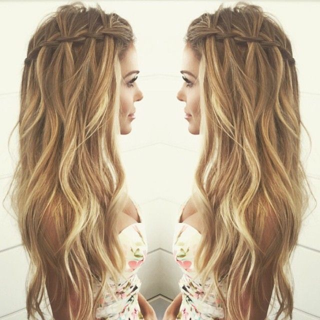 waterfall braid, highlights & waves // In need of a detox? 10% off using our discount code 'Pin10' at www.ThinTea.com.au
