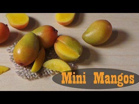 ▶ Juicy Mangos - Polymer Clay Miniature Food Tutorial - YouTube